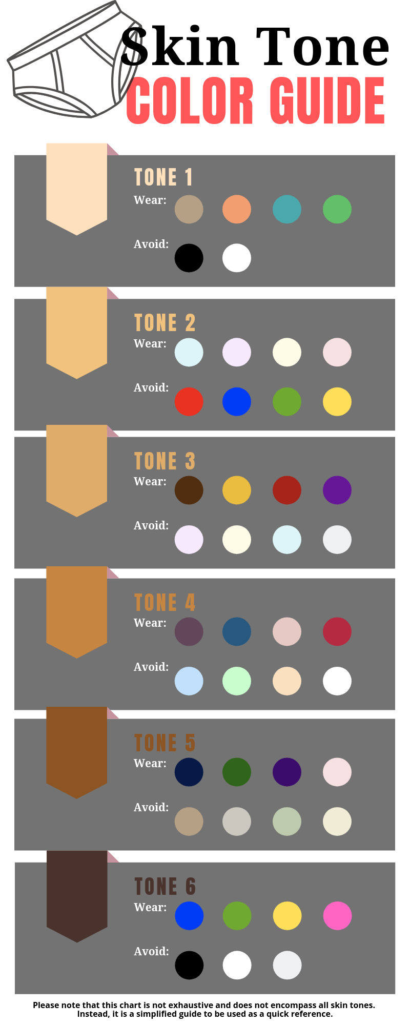 Ultimate skin tone matching guide for clothing infographic