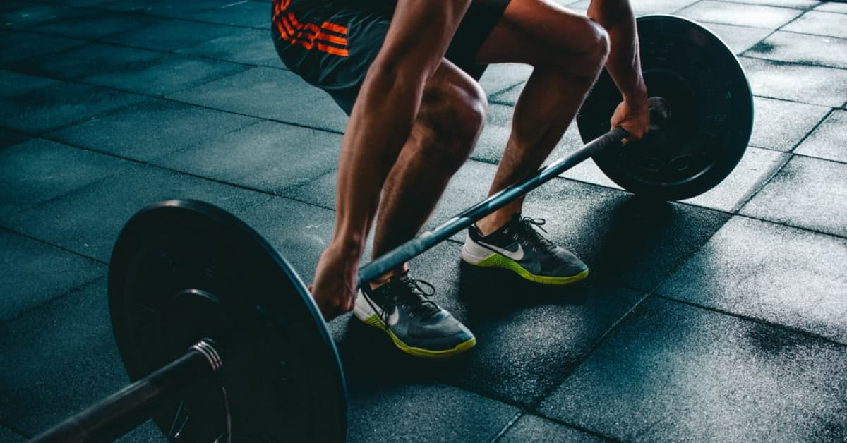 Photo of person performing a deadlift